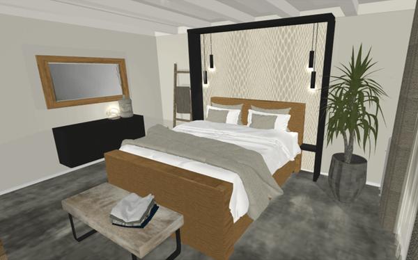 3D interieurontwerp slaapkamer Almelo