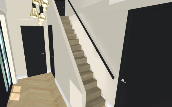 Interieuradvies hal luxe villa Wierden