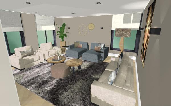 Interieuradvies woonkamer villa Wierden