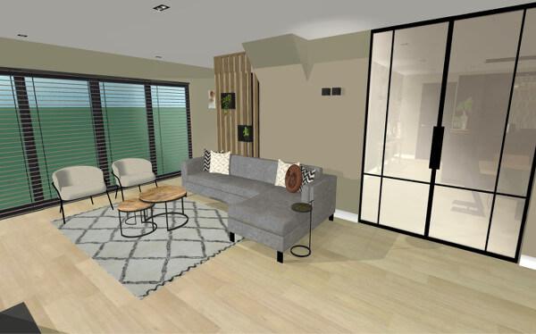 Interieurontwerp Neede verbouwing woonkamer