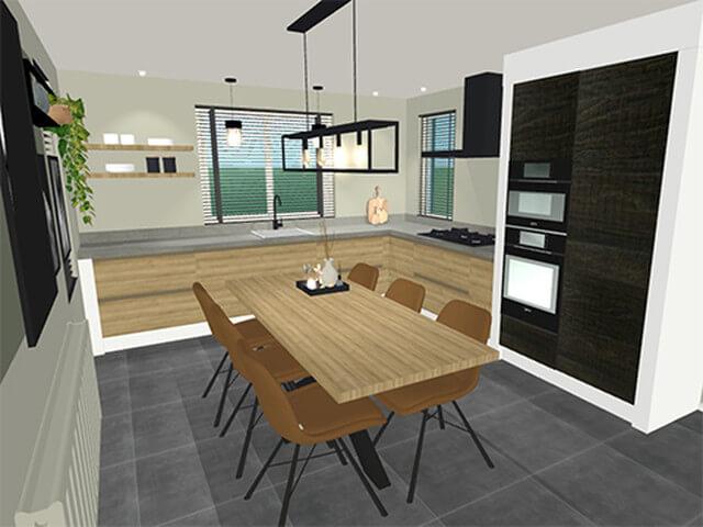 Interieurontwerp keuken en woonkamer Holten 8