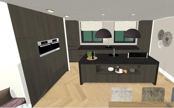 Interieurontwerp luxe keuken villa Wierden