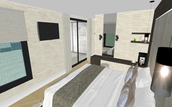 Interieurontwerp master bedroom villa Wierden