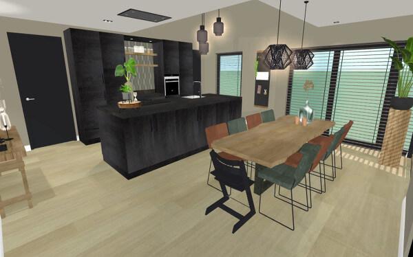 Interieurontwerp verbouwing Neede keuken