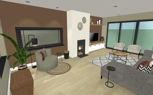 Interieurontwerp verbouwing Neede woonkamer