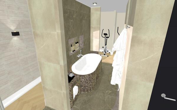 Interieurontwerp villa Wierden badkamer