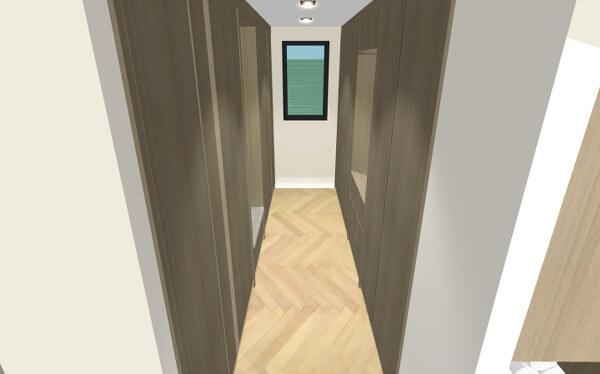 Interieurontwerp walk in closet villa Wierden