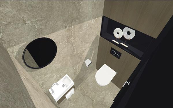 Interieurplan toilet villa Wierden