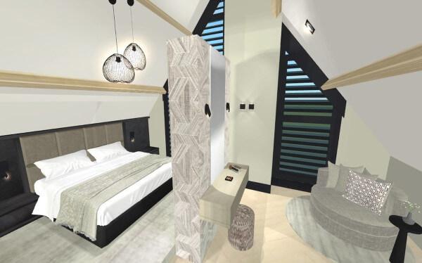 Totaalontwerp villa Lonneker master bedroom
